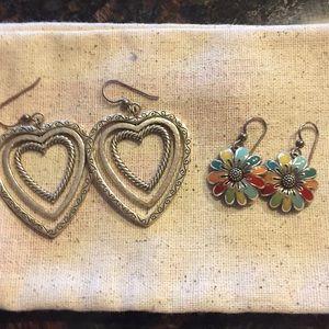 2 pairs Brighton earrings